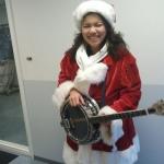 banjo-kerstvrouw